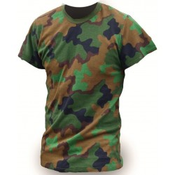 "NEW Surplus Dutch Army T-Shirt Jungle Camouflage Camo 38-42"" Chest Cotton"