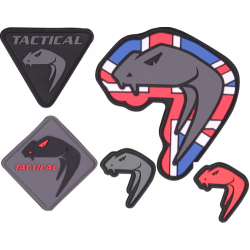 New Viper Snake Head Hook and Loop Patches Military Airsoft Biker Rubber
