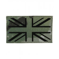 KT Laser Cut Union Jack Patch Military Subdued Tactical Hook & Loop BTP Camo