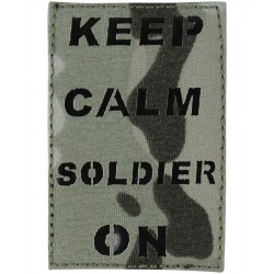 KT Laser Cut Keep Calm Patch Military Subdued Tactical Hook & Loop BTP Camo