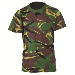 Kids Army T-Shirt DPM Camouflage British Camo Military Cadet Cotton Boys Girls