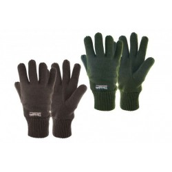 Highlander Thermal Knitted Gloves Mens Thermolite Lined Acrylic Black Green