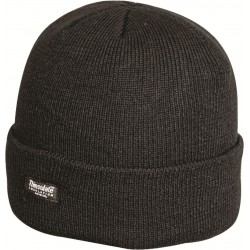 Highlander Bob Hat Knitted Beanie Hat Acrylic Watch Cap Thermal Lined Black