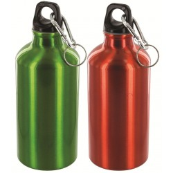 HIGHLANDER TEAL/ORANGE ALUMINIUM 500ml bottle WATER BOTTLE WITH CARABINER