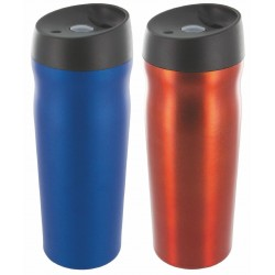 Highlander 500ml Thermal Travel Mug Coffee Cup Hot Drinks Blue/Orange