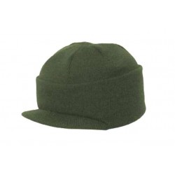 Acrylic Bob Hat with Peak Olive