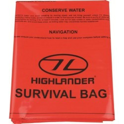 Highlander Waterproof Double Survival Bag  Survival Instructions ORANGE Walking