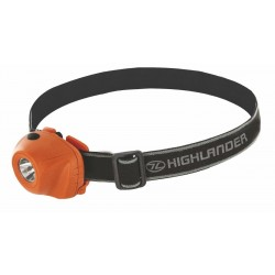 Highlander Beam Headlamp Orange Headtorch Head Torch Light Hands Free 1 Watt