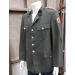 "Genuine Austrian Army Uniform Jacket Badged Formal Military Grey/Olive 38"" (255)"