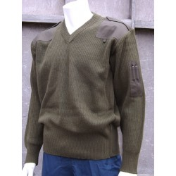 Brand New Genuine Italian Army Wool Jumpers V-Neck Olive Green