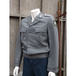 Genuine German Mountain Troops Dress Jacket Short Waist Laced Back Grey Army 259