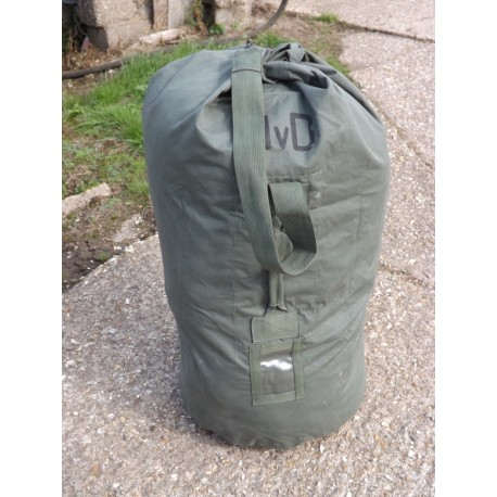 Genuine Dutch Extra Large Kit Bag Cotton Canvas Military Bag Rucksack Holdall