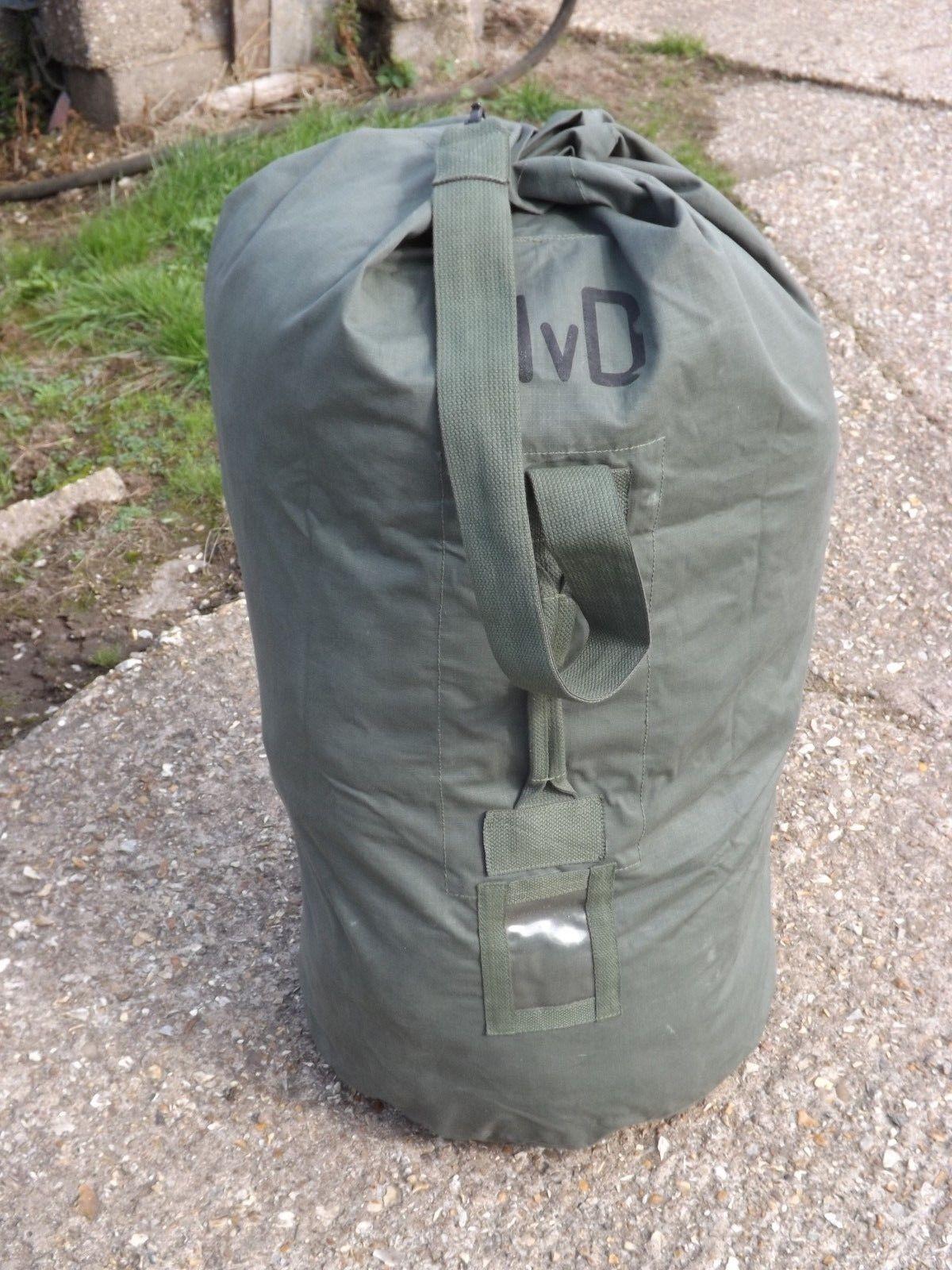 459bc812611 Genuine Dutch Extra Large Kit Bag Cotton Canvas Military Bag Rucksack  Holdall
