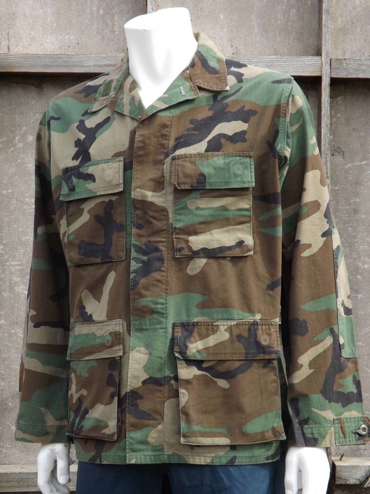 b3258606952a8 Genuine Vintage US Army Woodland BDU Jackets Camouflage Cotton Military Camo