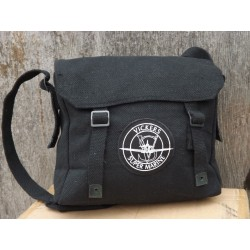 Vintage Style Airforce Black RAF Bag Webbing Shoulder Bag Patches Spitfire Plane