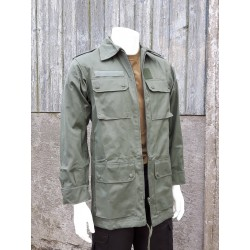 NEW French Army Vintage Jacket Green Canvas Mens Ladies Retro Military Combat
