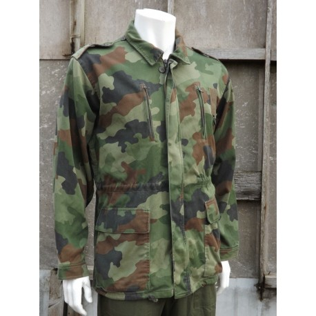 "Genuine Serbian Army Combat Jacket Camouflage Parka 46"" Chest Military"