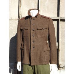 Genuine Army Vintage Hungarian Wool Jeep Coat Brown Cold War Era Surplus