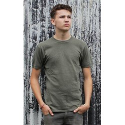 Genuine Army Surplus German T-Shirt Cotton Olive Green Grey Vintage
