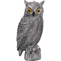 Jack Pyke  Full Body Owl Decoy Lifesize Realistic Bird Plastic Garden