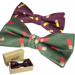 Jack Pyke Bow Tie Cartridge Shooting Country Clothing Bow Green Wine