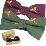 Jack Pyke Bow Tie Pheasant Shooting Country Clothing Bow Green Wine