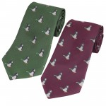 Jack Pyke Neck Tie Duck Game Shooting Country Gift Green Wine