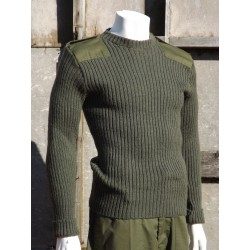 Genuine British Army Wool Jumper Crew Neck Olive Green Surplus Woolly Pully