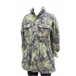 Genuine Czech Camo Winter Parka Faux Fur Lining Army Forces Camouflage Thermal