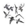 Jack Pyke Pewter Pin Badges Pheasant Partridge Stag Woodcock Duck Shooting Gift