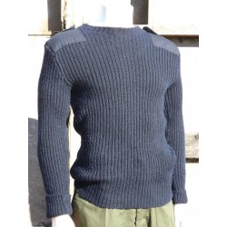 Genuine British Navy Wool Jumper Crew Neck Blue Surplus Woolly Pully Army