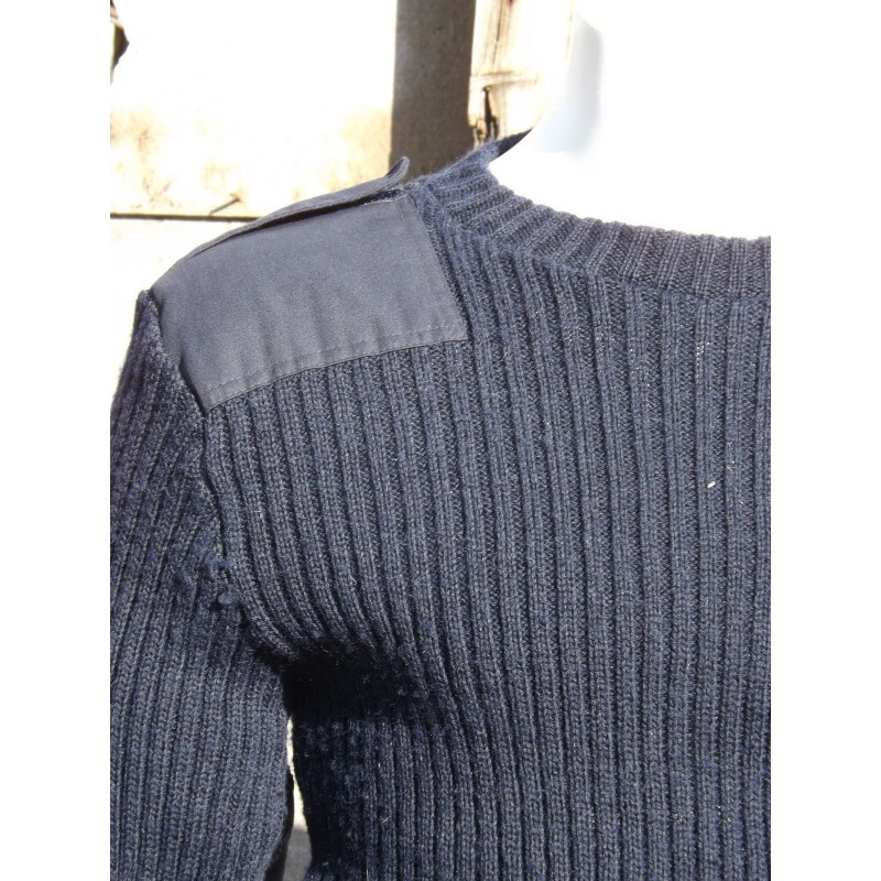 20719d678 Genuine British Navy Wool Jumper Crew Neck Blue Surplus Woolly Pully ...