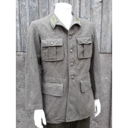 """Genuine 1940's Dated Swedish Army Wool Jacket Vintage Coat 40"""" Chest 330"""