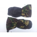 Genuine British Army Arctic Mittens Inner Mittens Leather Palm Camouflage