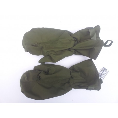 Genuine British Army Arctic Mittens Outer Waterproof Lightly Padded Olive