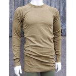 NEW Genuine Dutch Forces Thermal Top Long Sleeve T-Shirt Mustard Winter Long