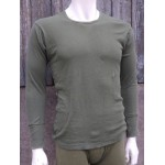Genuine British Forces Thermal Cotton Top Long Sleeve T-Shirt Olive Green
