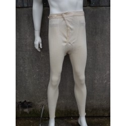 Genuine Vintage Swedish Army Long Johns Thermal Leggings Cream