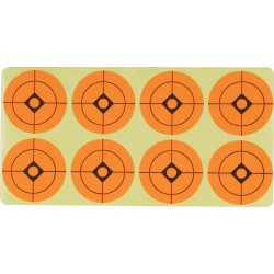 "Jack Pyke Target Stickers Self Adhesive 1.5"" Labels Practise Targets Orange"