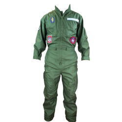 Adult Flight Suit Flying Suit Pilot Overall Badges Green US Military Fancy Dress
