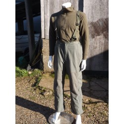 "Genuine Surplus French Gore-tex Waterproof Over Trousers Bib & Brace 32-34""W 386"