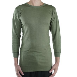 NEW Genuine Dutch Forces Thermal Top Long Sleeve T-Shirt Olive Winter Long