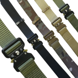 "KT Recon Belt Tough Military Webbing Strap Belt 1.35"" Wide  28-46"" Waist"