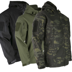 KT Patriot Softshell Jacket Warm Soft Shell Black Green Camo Tactical military