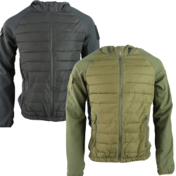 KT Venom Tactical Jacket Padded Softshell Black Olive Military Forces Airsoft