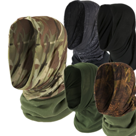 Highlander Headover Fleece Edge Snood  Stretch Military Camouflage 5 Way