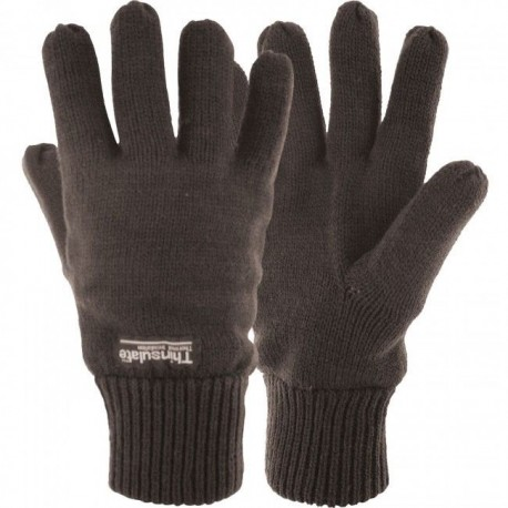Thinsulate Lined Knitted Gloves Thermal Warm One Size Fits Most Adult Men