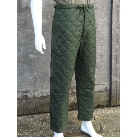Genuine Surplus British Quilted Liner Trousers Army Thermal Padded Winter
