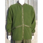 Genuine Surplus British Army Fleece Old Style Olive Green Warm Thermal Wool Trim