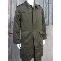 Genuine Surplus Czechoslovakian Olive Green Parka Long Length Quilted 38-40 412